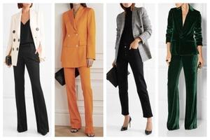 Даже в строгом деловом костюме можно выглядеть женственно и утонченно: выбираем комплект в соответствии с типом фигуры