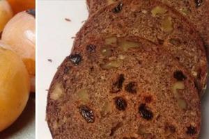 Как испечь хлеб с хурмой и орехами для завтраков: рецепт по шагам