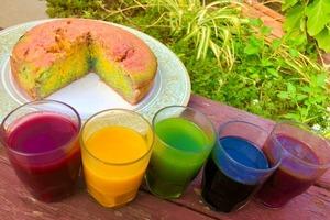 """Искусственные красители считаю вредными, поэтому раскрашиваю тесто с помощью природных ингредиентов: готовлю к чаю """"радужный"""" пирог с голуби"""