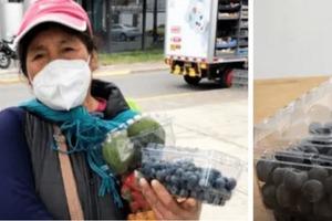 Девушка решила помочь женщине, распространив информацию о том, как она проходит 52 км каждый день, чтобы продать выращенные фрукты