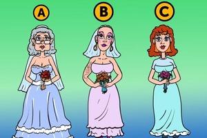 Одна из трех женщин не настоящая невеста, а подставная: посмотрите внимательно и угадайте, что ее выдает