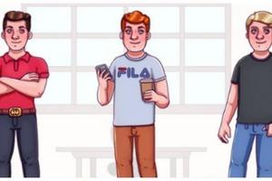 Задачка на логику: посмотрите на картинку и решите, кто из трех парней богат