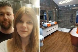 Пара использовала б/у мебель и материалы, а их ванная теперь выглядит дорого и богато: фото после ремонта